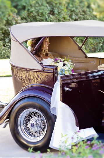 classic wedding old car get away visalia wedding p