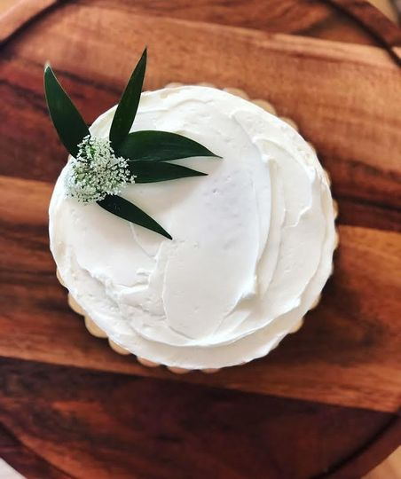 Almond Bridal Shower Cake