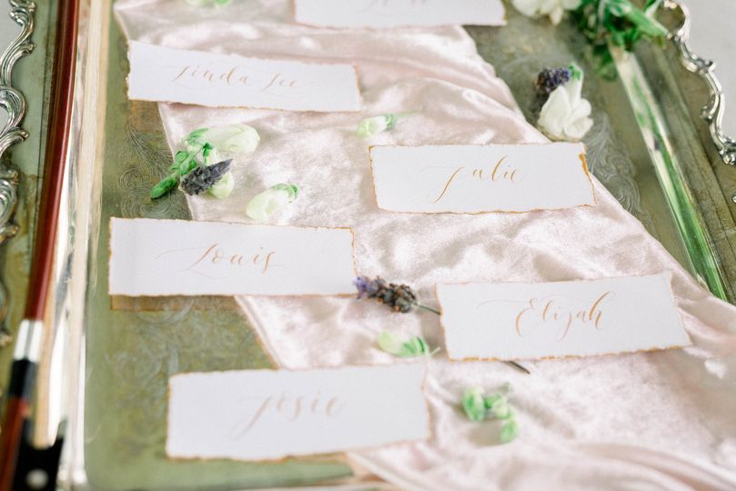 Wedding place cards Pittsburgh