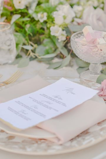 Wedding place setting pgh