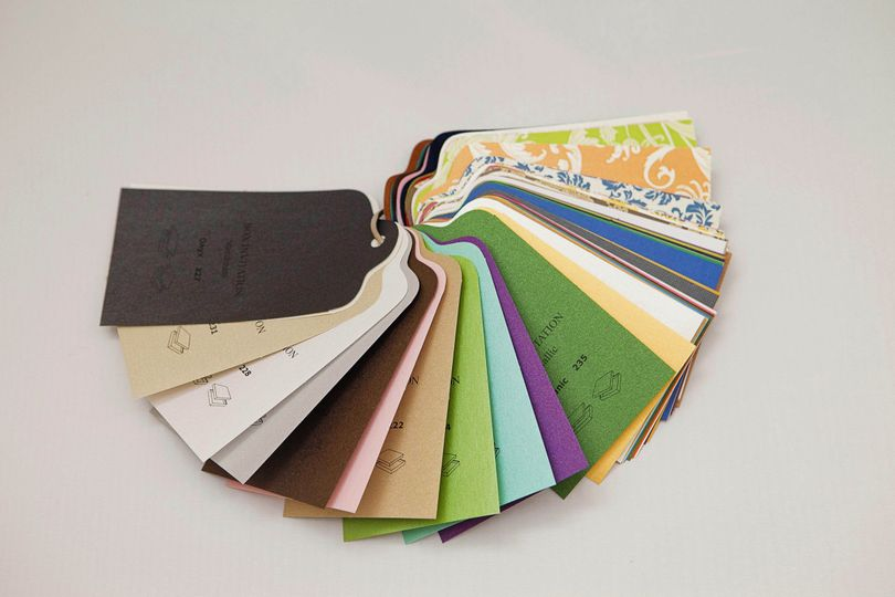 Color samples for Custom Invitation Boxes
