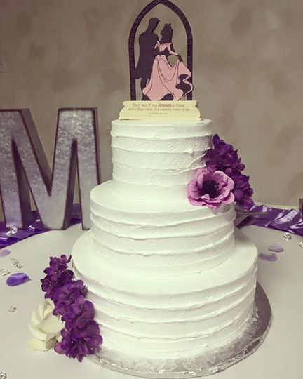 Purple flower decorations