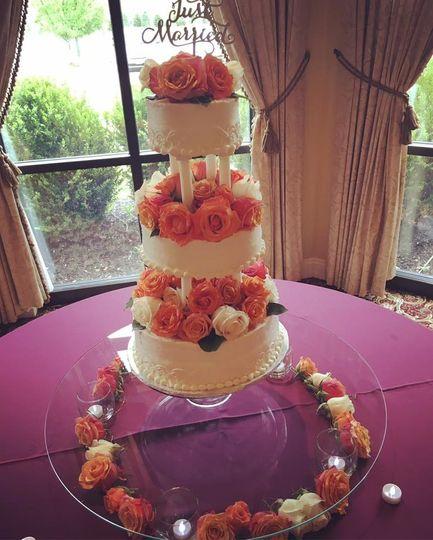 Stacked rose cake