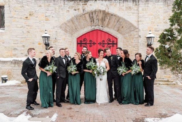 Winter wedding green