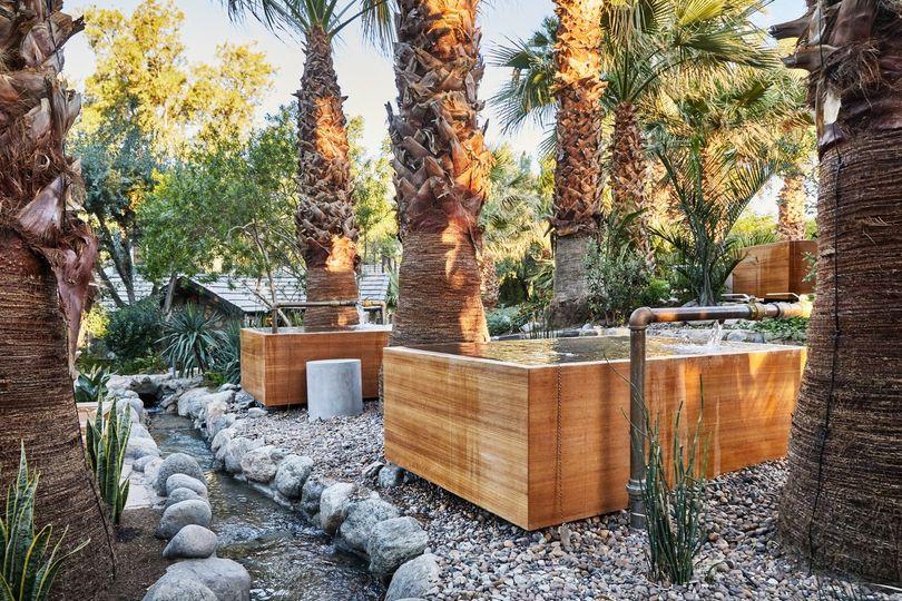 Idyllic natural spring hot tubs