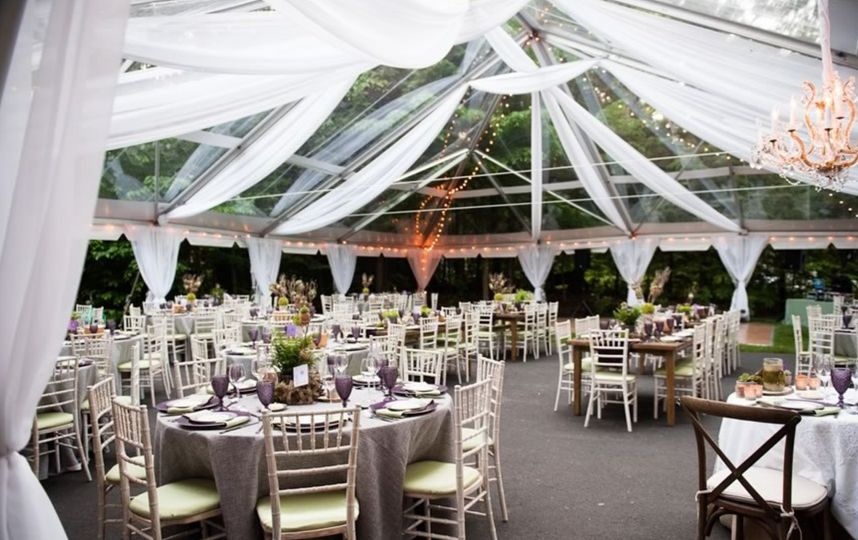Covered reception spcae