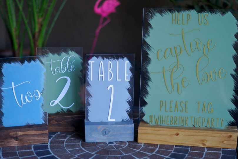 Table Numbers and Photo Booth