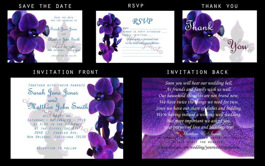 Orchid Fleur de Lis Package