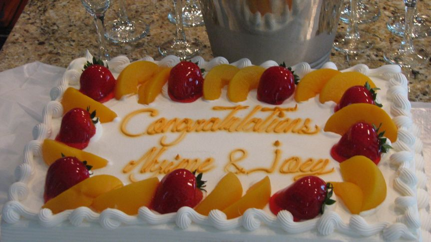 Engagement Party Fresh Strawberry & Peach Fruit Cake......Delicious!