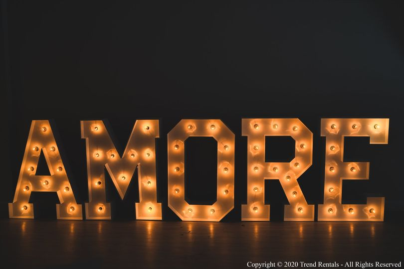 4FT AMORE Marquee Letters