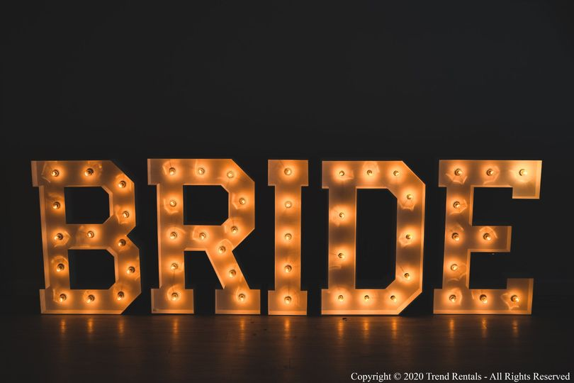 4FT BRIDE Marquee Letters