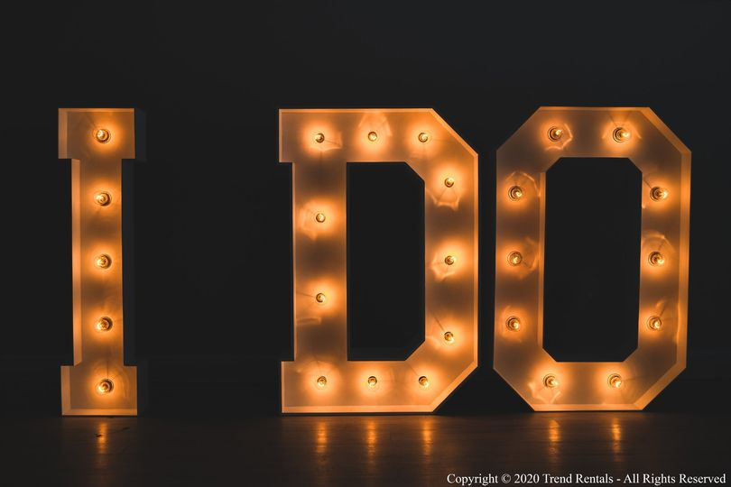 4FT I DO Marquee Letters