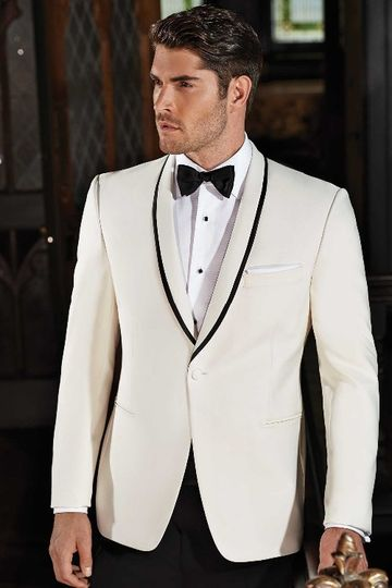 White tux with bowtie