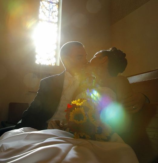 Kissing Couple in Church