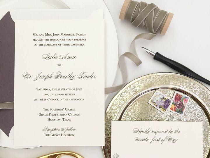 Tmx 1477604675331 Black Thermography Wedding Invitation Castle Rock, CO wedding invitation