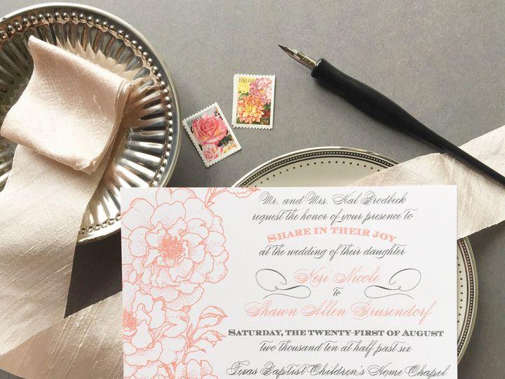 Tmx 1477604721039 Coral Gray Garden Wedding Invitation Castle Rock, CO wedding invitation
