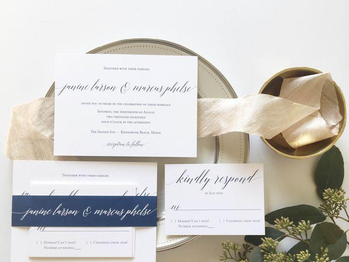 Tmx 1477604738989 Navy Wedding Inspiration Castle Rock, CO wedding invitation