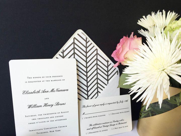Tmx 1477604760567 Black Thermography Formal Wedding Invitation Castle Rock, CO wedding invitation