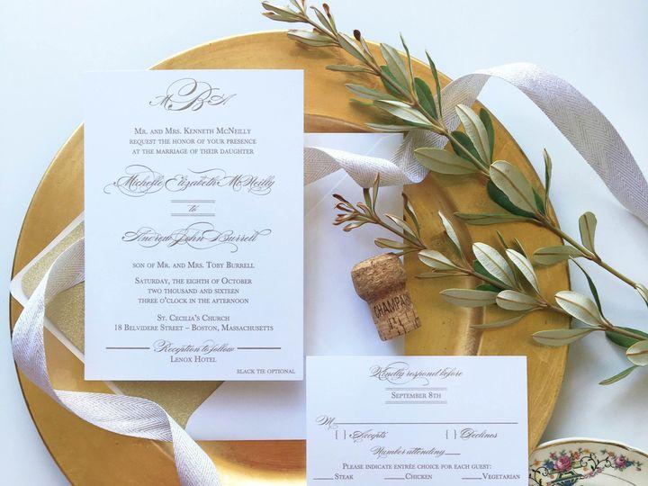 Tmx 1477604782942 Gold Monogram Wedding Invitation Suite Castle Rock, CO wedding invitation
