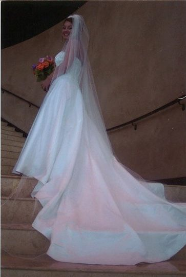 Bride in the stairs