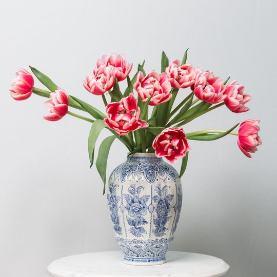 Simple Bouquet of Pink Tulips