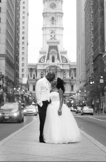Beautiful wedding day in Philadelphia.