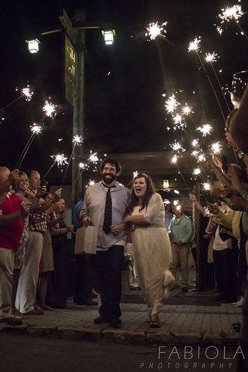 Night time wedding celebrations!