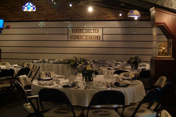 The table setup for the Bruno wedding in the Bright House Networks Dugout Club. April 2011
