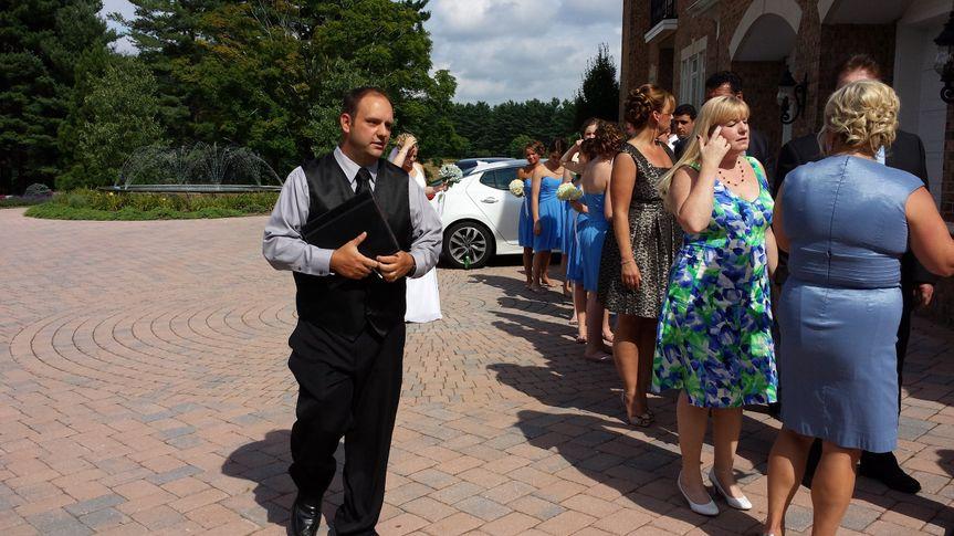 The wedding procession