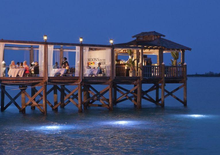 bahamas off shore island wedding