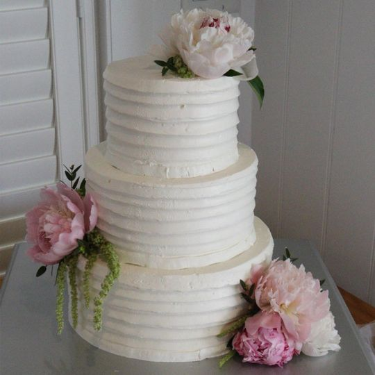 Peony cake flower