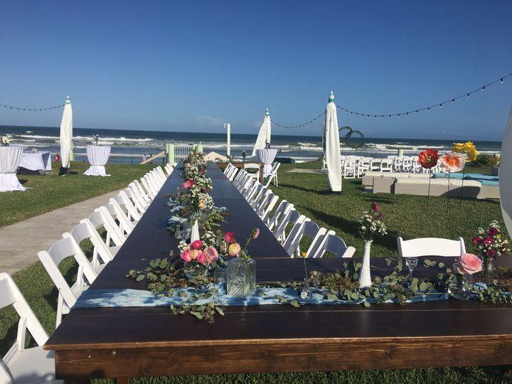 Salty Mermaid wedding setup