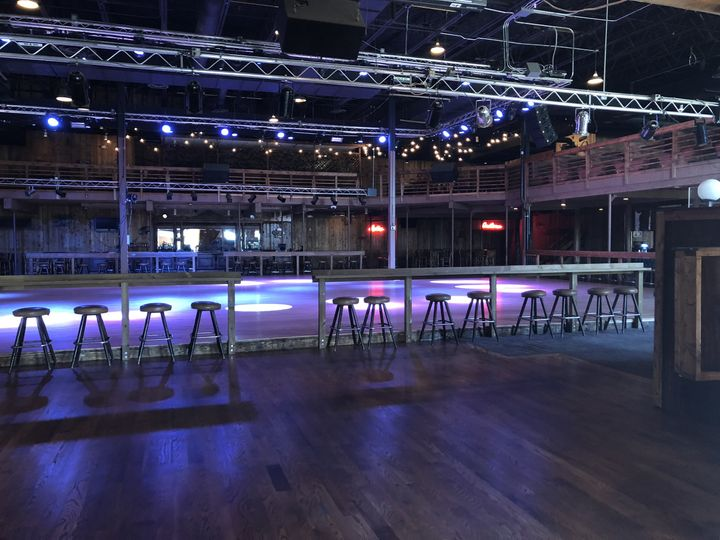 Drink rail and dance floor