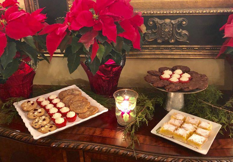 Christmas dessert bar set-up