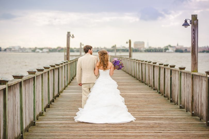 The couple on the docks