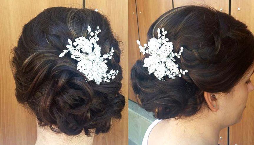 bridal hair updo bun wedding ideas 2