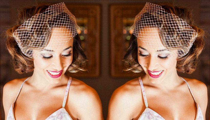 bridal hair updo vintage veil hair net