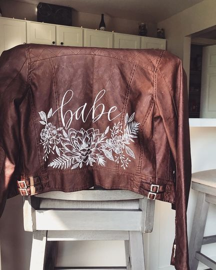 The babe jacket: hand painted