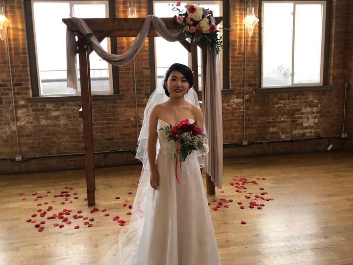 Loft wedding with draping