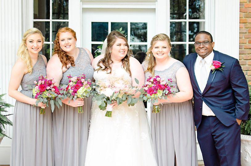Raleigh bridal party