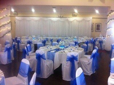 hallgarth manor with royal blue