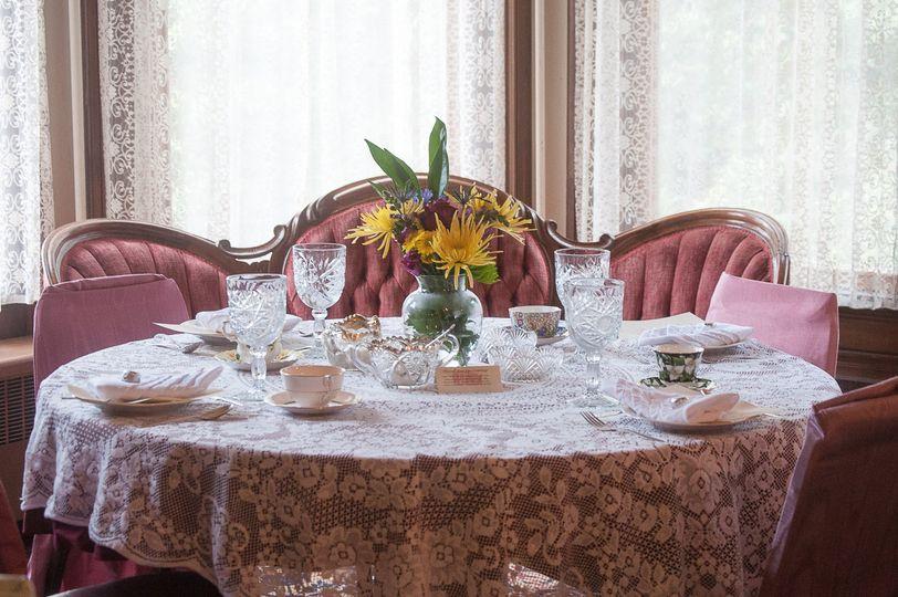 A vintage table arrangement