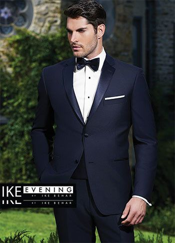 Navy tuxedo and bow tie