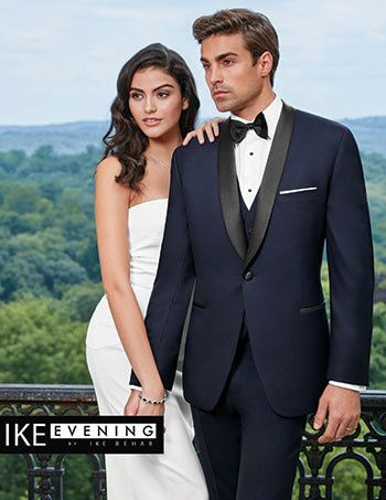 Navy tuxedo with a shawl lapel