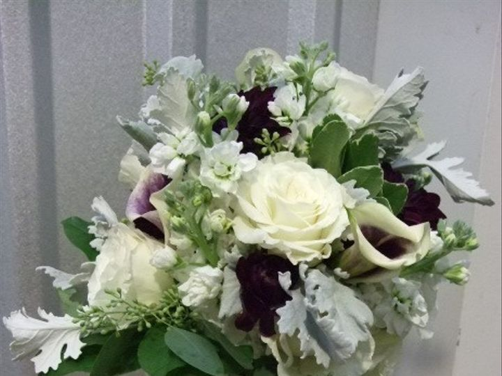 Tmx 1489088037536 White And Dk Purple Bouquet Atlanta, Georgia wedding florist