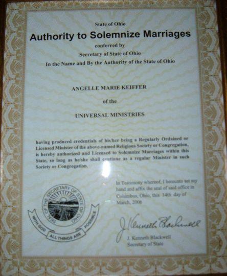 Rev. Angelle Keiffer - Ohio Officiant for Custom Wedding Ceremonies ...