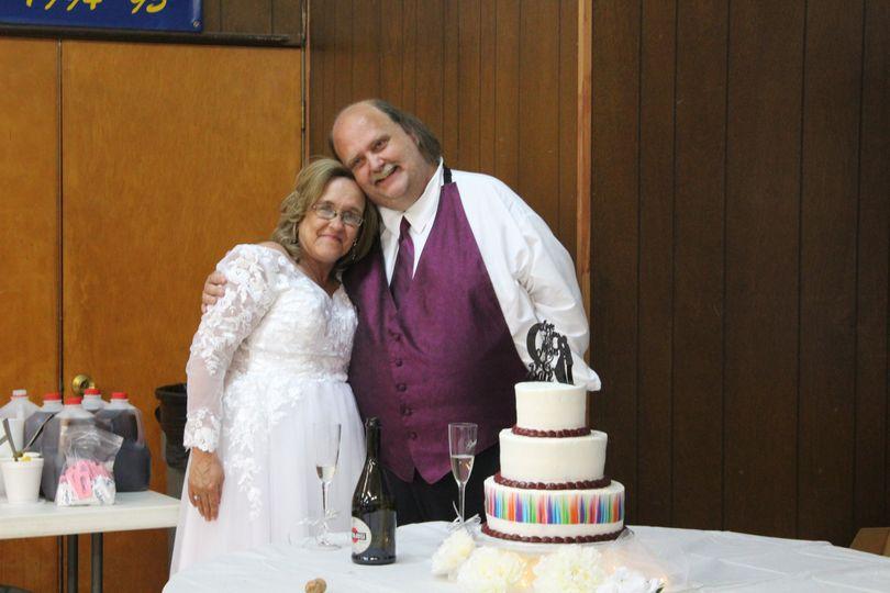 Mr. & Mrs cake