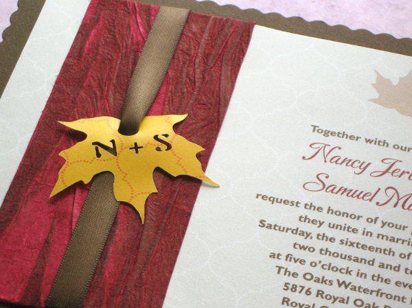 Tmx 1294616961254 Rusticleafinvitecloseup Phoenixville wedding invitation