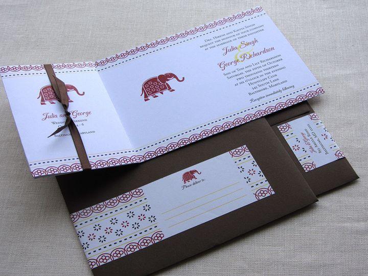 Tmx 1437502314890 Jaipur Elephant Invitation With Envelopes Phoenixville wedding invitation