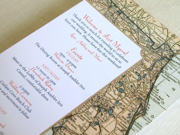 Tmx 1437502401951 Florida Map Itinerary Card Phoenixville wedding invitation